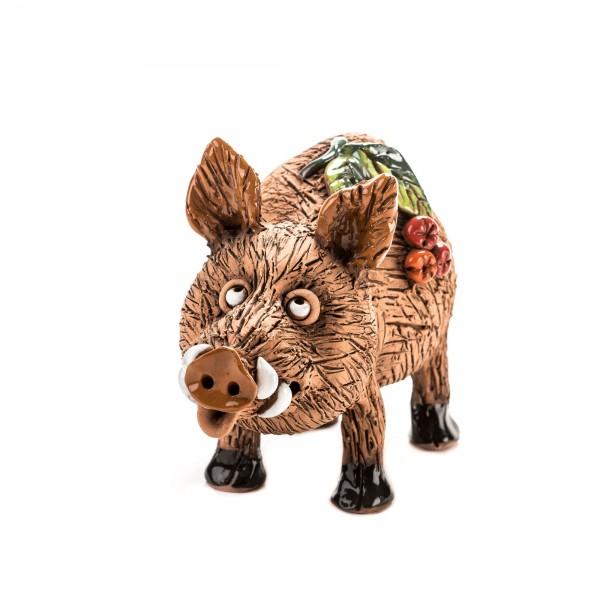 Keramik Spardose Wildschwein