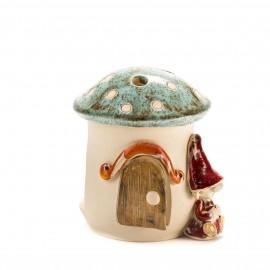 Teelichthaus Pilz mit einem Zwerg Größe I – S