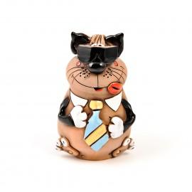 Gartenstecker Katze mit einem Halsband I
