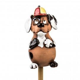 Gartenstecker Hund, lustiger Beagle