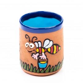 Keramiktasse fleißiges Bienchen mit Honig