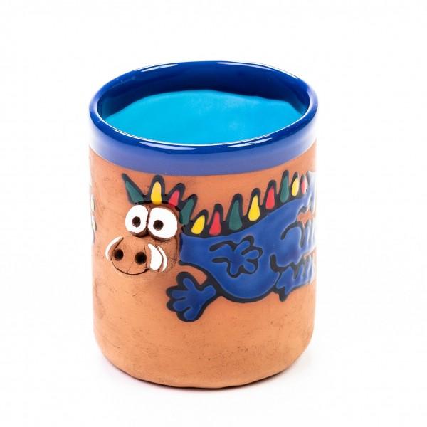 Keramiktasse blauer Drache