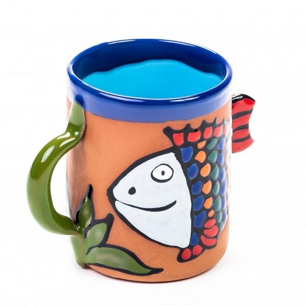 Keramiktasse Regenbogenfisch (gemischte Farben)