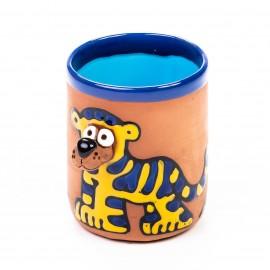 Keramiktasse blau gestreifter Tiger