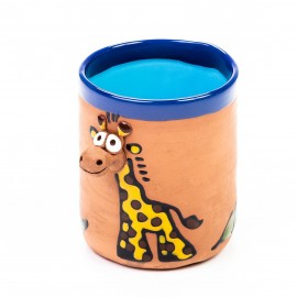 Keramiktasse Giraffe mit braunen Punkten