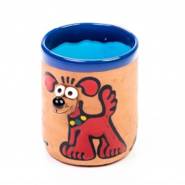 Keramiktasse Hund - Hektor rot