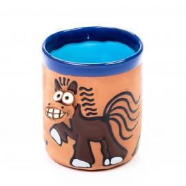 Keramiktasse Pferd