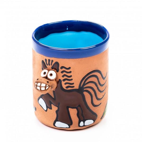 Keramiktasse Pferd - Grinsegaul