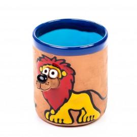 Keramiktasse Löwe mit Flammenmähne
