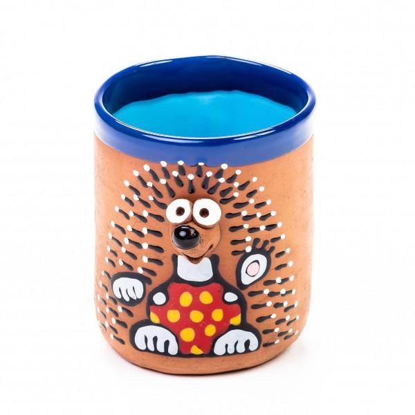 Keramiktasse Igel in Unterwäsche