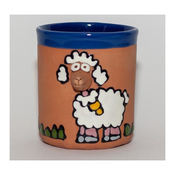 Keramiktasse weißes Schaf