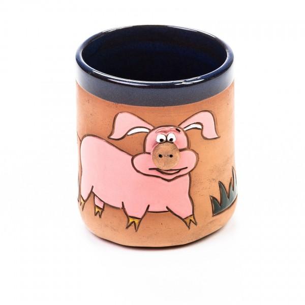 Keramikbecher Schwein