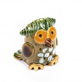 Keramik Minifigur - Eule - gemischte Farben
