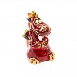 Keramik Minifigur - roter Drache