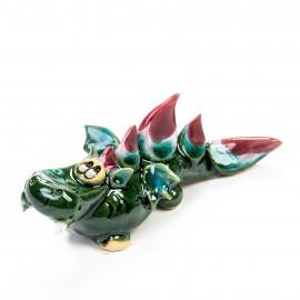 Keramik Minifigur - grüner Drache