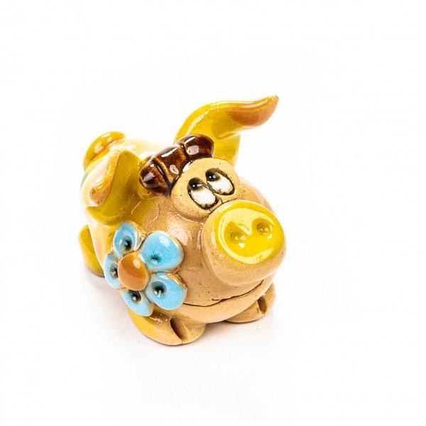 Keramik Minifigur - Frau Sau - gemischte Farben