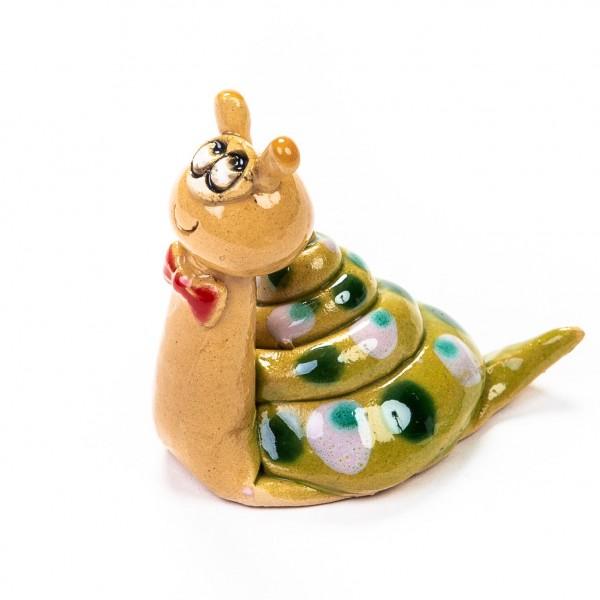 Keramik Minifigur - Schneckenpyramide - gemischte Farben