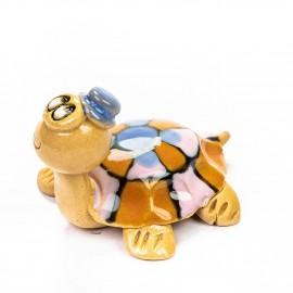 Keramik Minifigur - Schildkröte - gemischte Farben