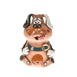 Gartenstecker Hund mit einem Halsband