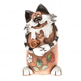 Spardose Katze mit Schnecke