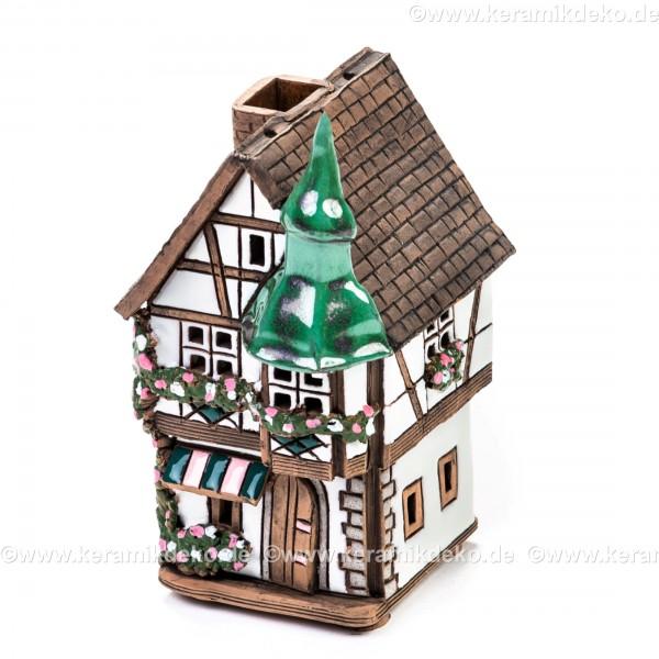 Teelichthaus Nr. 6 - Weiß. Teelichthalter, Duftstövchen und Räucherhaus
