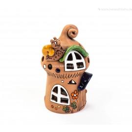 Teelichthaus mit einer Schnecke –Größe M