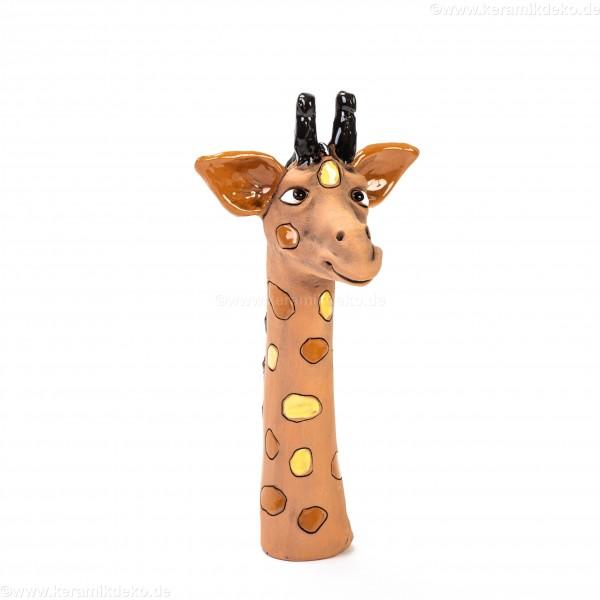 Gartenstecker Mini-Giraffenkopf (hellgelb)