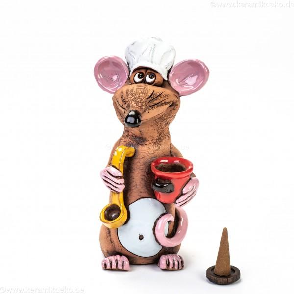 Räucherfigur Gourmet Ratte | Räuchermännchen