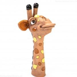 Gartenstecker Giraffenkopf mit gelben Flecken