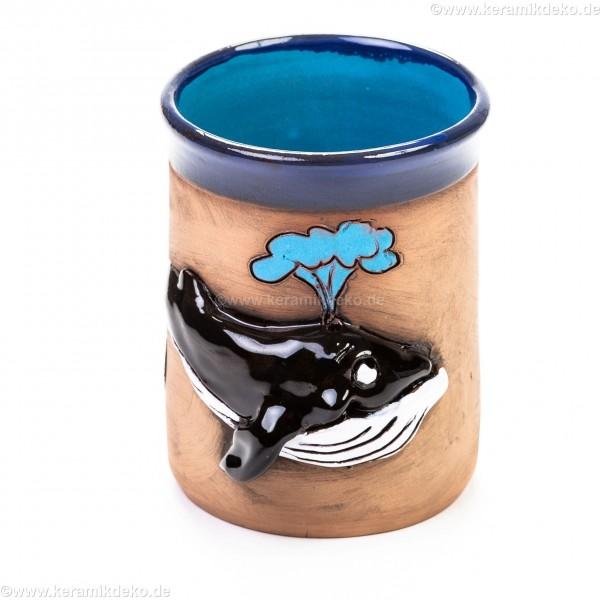 Keramiktasse mit Blauwal