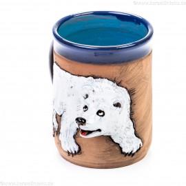 Keramiktasse mit Eisbär
