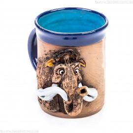 Keramiktasse mit Mammut