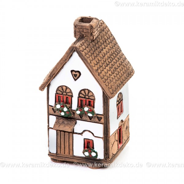 Mini Keramikhaus. Räucherhaus Nr. 11