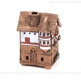 Mini Keramikhaus. Räucherhaus Nr. 4