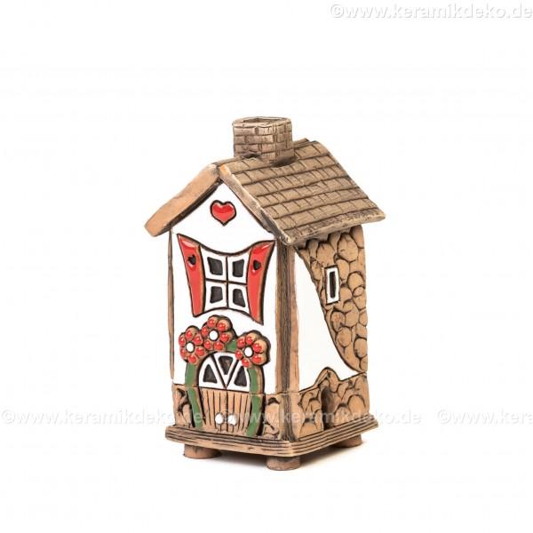 Mini Keramikhaus. Räucherhaus Nr. 8