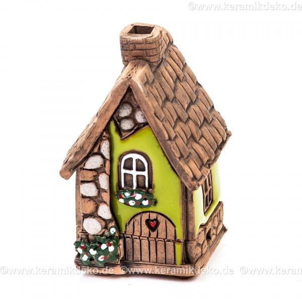 Mini Keramikhaus. Räucherhaus Nr. 6