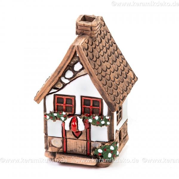 Mini Keramikhaus. Räucherhaus Nr. 5