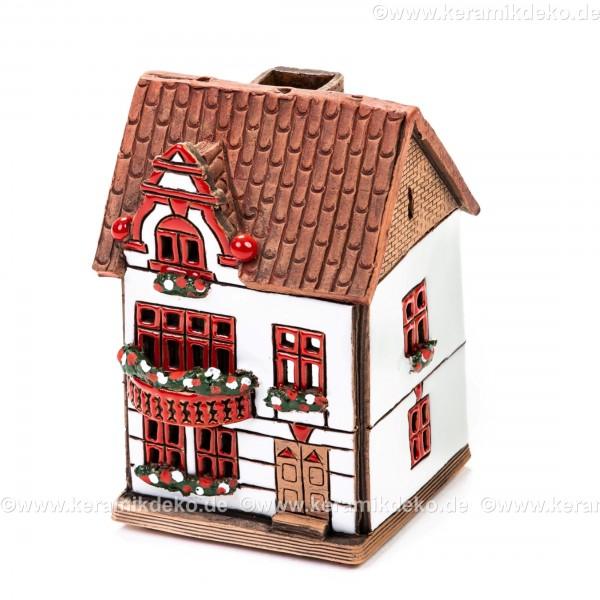 Teelichthaus Nr. 9 - Teelichthalter, Duftstövchen und Räucherhaus