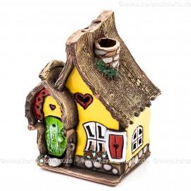 Teelichthaus Nr. 5 - Teelichthalter, Duftstövchen und Räucherhaus