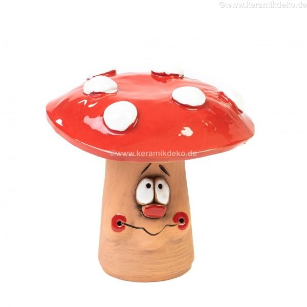 Roter Pilz für Gartenstecker II Größe S