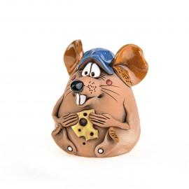 Spardose Maus mit Käse