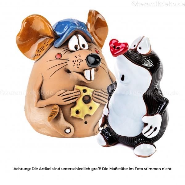 Keramikset 1 (2-tlg.): Maulwurf und Maus