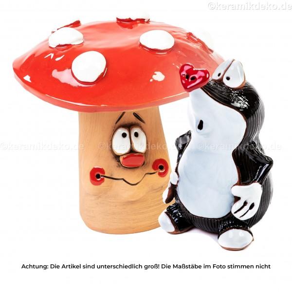 Keramikset 2 (2-tlg.): Maulwurf und Pilz