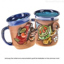 Keramikset 3 (2-tlg.): Tasse Schildkröte und Igel