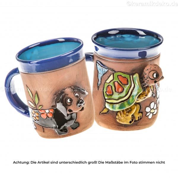 Keramikset 4 (2-tlg.): Tasse Schildkröte und Dackel