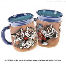 Keramikset 6 (2-tlg.): Katzen-Motivtassen