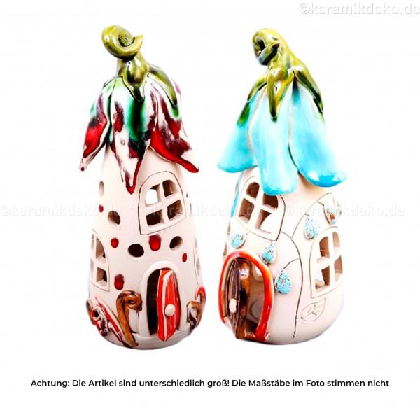 Keramikset 9 (2-tlg.): Teelicht-Märchenhäuser