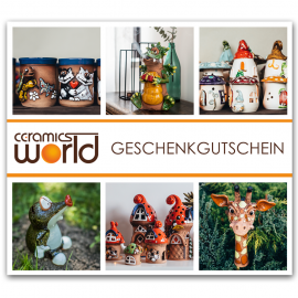 Geschenkgutschein für Keramikprodukte, 50 Euro