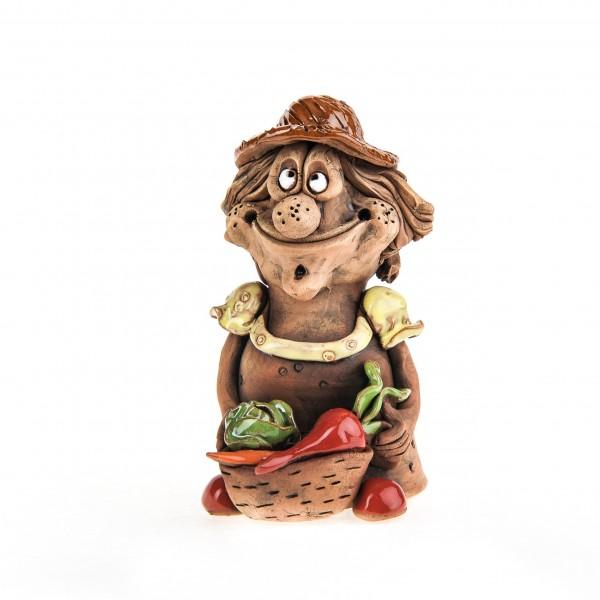 Keramikfigur Gärtnerin