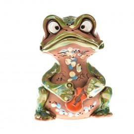 Spardose Frosch mit Gitarre
